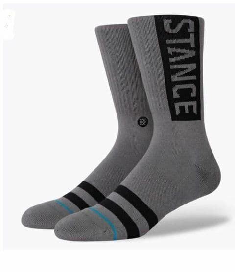 STANCE OG SOCKS.NEW GRAPHITE ARCH SUPPORT CUSHIONED CREW CALF SIZE UK 6 - 13